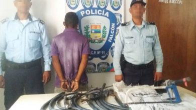 Photo of Polifalcón detiene por hurto de cables a famoso escapista