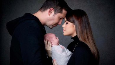 Photo of Georgina Palacios y Gabriel Parisi lucen hermosos con su bebé