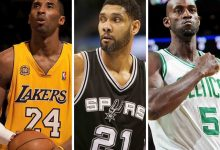 Photo of NBA| Al Salón de la Fama van Bryant, Duncan y Garnett